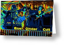 Blue Oyster Cult Jamming In Oakland 1976 Greeting Card