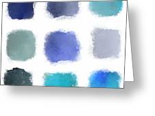 Blue Palette, No.1 Greeting Card