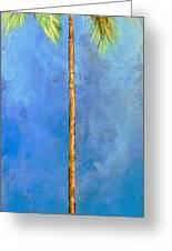 Blue Palm Greeting Card