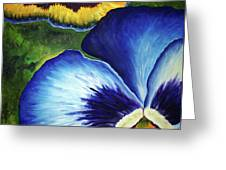 Blue Pansies  Greeting Card