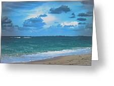 Blue Paradise, Scenic Ocean View From The Bahamas Greeting Card