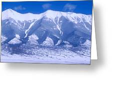 Blue Peaks Greeting Card