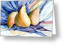 Blue Pears Greeting Card