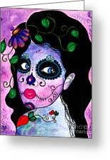 Blue Peepers Greeting Card