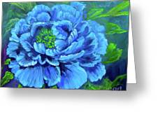 Blue Peony Jenny Lee Discount Greeting Card