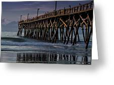 Blue Pier Greeting Card