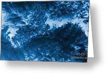 Blue Plants Greeting Card