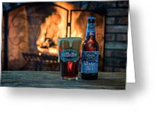Blue Point Winter Ale By The Fire Greeting Card
