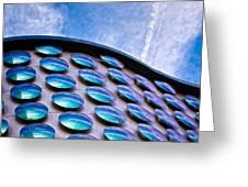 Blue Polka-dot Wave Greeting Card
