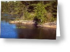 Blue Pond Marsh Greeting Card