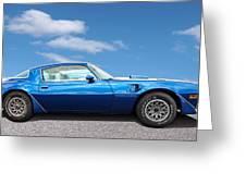 Blue Pontiac Trans Am 1978 Greeting Card