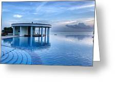 Blue Pool Greeting Card