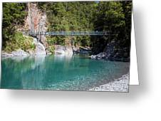 Blue Pools New Zealand Greeting Card
