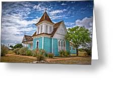 Blue Prairie Church Greeting Card