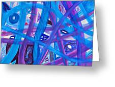 Blue Purple Paths  Greeting Card