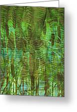 Blue Reed Greeting Card