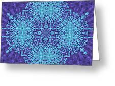 Blue Resonance Greeting Card