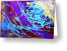 Blue Reverie Greeting Card by Mordecai Colodner
