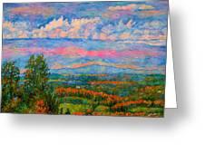 Blue Ridge Cloud Burst Greeting Card