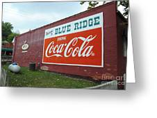 Blue Ridge Coke Greeting Card
