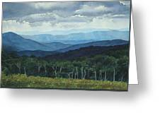 Blue Ridge From Grassy Bald  Study Greeting Card