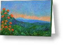 Blue Ridge Morning Greeting Card