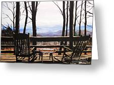 Blue Ridge Mountain Porch View Greeting Card
