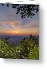 Blue Ridge Mountain Sunset Greeting Card