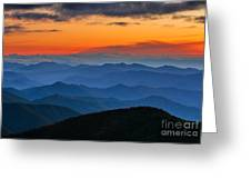 Blue Ridge Mountains. Greeting Card