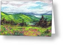Blue Ridge Mountains Near Asheville Greeting Card
