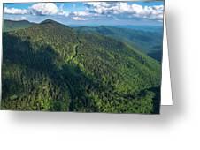 Blue Ridge Parkway At Balsam Gap Greeting Card