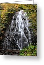 Blue Ridge Parkway Crabtree Falls In Autumn Greeting Card