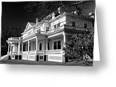 Blue Ridge Parkway Flat Top Manor Bw Greeting Card