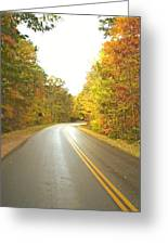 Blue Ridge Parkway In Fall Greeting Card