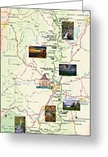 Blue Ridge Parkway In North Carolina Greeting Card