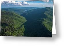 Blue Ridge Parkway Rainbow Gap Greeting Card