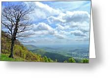 Blue Ridge Parkway Views - Rock Castle Gorge Greeting Card by Kerri Farley