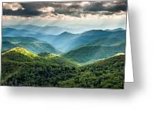 Blue Ridge Southern Appalachian Mountain Light Show Greeting Card