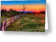 Blue Ridge Sunrise At Doughton II Greeting Card