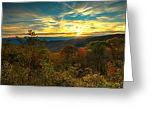 Blue Ridge Sunsets Greeting Card