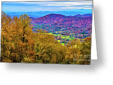 Blue Ridges Greeting Card
