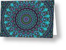 Blue Riot Greeting Card