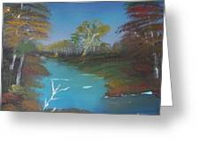 Blue River Two Greeting Card