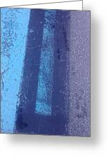 Blue Road Greeting Card