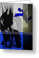 Blue Romance Greeting Card by Naxart Studio