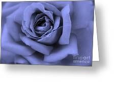 Blue Rose Abstract Greeting Card