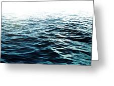 Blue Sea Greeting Card