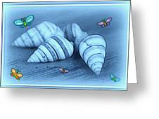 Blue Seashells Greeting Card