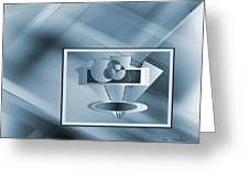 Blue Series #2 Greeting Card