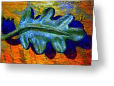 Blue Shadow Greeting Card